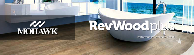 mohawk revwood plus waterproof performance laminate wood flooring collection on sale