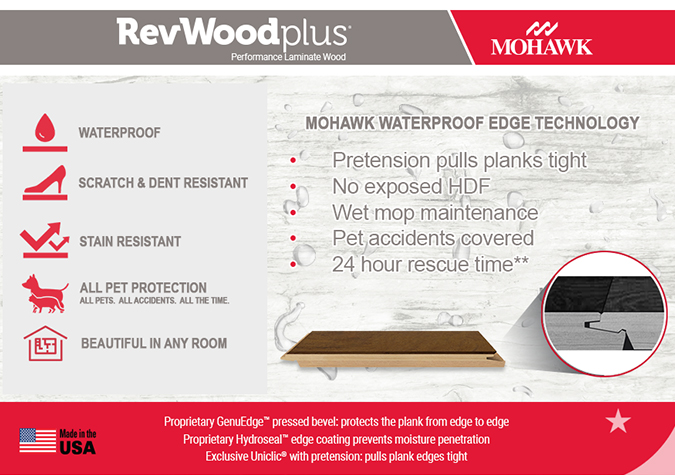 waterproof performance laminate wood flooring mohawk revwood plus collection on sale