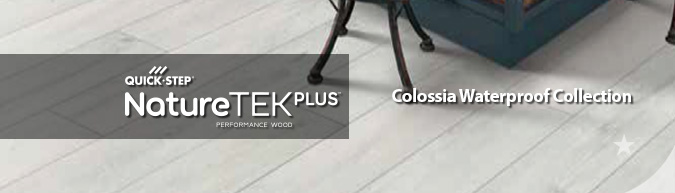 quick-step NatureTEK Plus Waterproof laminate flooring Colossia collection at ACWG