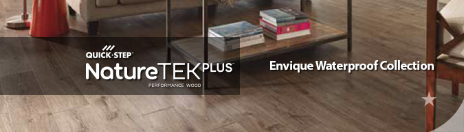 quick-step NatureTEK Plus Waterproof laminate flooring Envique collection at ACWG