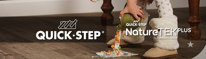 quick-step NatureTEK Plus Waterproof laminate flooring collection at ACWG