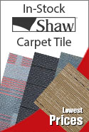 shaw carpet tiles in-stock special