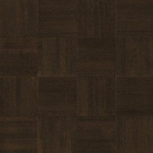 Millwork Square Oak Parquet Blackened Brown (High Gloss)