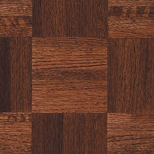 Urethane Parquet - Wood Backing Cinnabar (Natural & Better Grade)