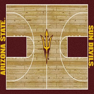Arizona State Sun Devils Home Court Rug Arizona State