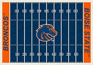 Boise State Broncos Home Field Rug Broncos (End Zone Color: Orange)