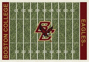 Boston College Eagles Home Field Rug Eagles (End Zone Color: Red)