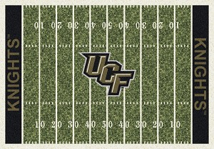 Central Florida Knights Home Field Rug Central Florida Knights  (End Zone Color: Black)