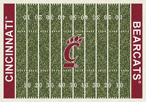 Cincinnati Bearcats Home Field Rug Cincinnati Bearcats (End Zone Color: Red)