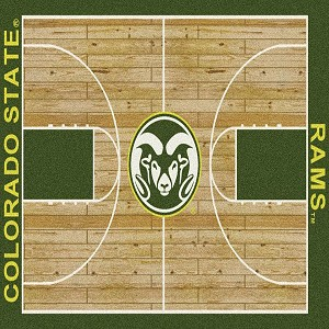 Colorado State Rams Home Court Rug Colorado State Rams (Lane Color: Green)