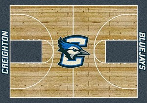 Creighton Bluejays Home Court Rug Creighton Bluejays (Lane Color: Blue)