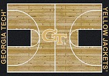 Georgia Tech Home Court Rug
