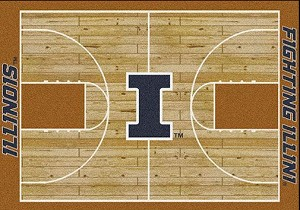 Illinois Fighting Illini Home Court Rug Illinois Fighting Illini