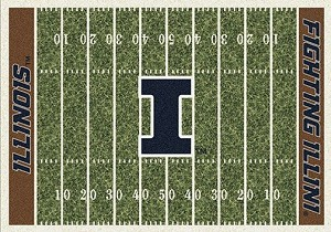 Illinois Fighting Illini Home Field Rug Illinois Fighting Illini