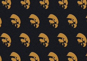 Iowa Hawkeyes Logo Repeat Rug Iowa Hawkeyes