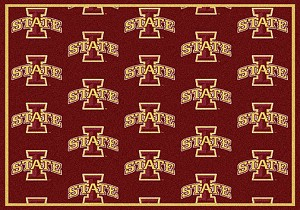 Iowa State Cyclones Logo Repeat Rug Iowa State Cyclones
