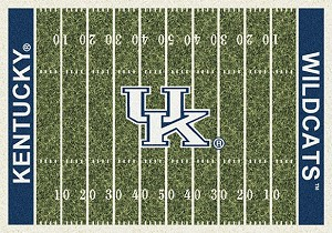 Kentucky Wildcats Home Field Rug Kentucky Wildcats (End Zone Color: Blue)