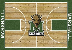 Marshall Thundering Herd Home Court Rug Marshall Thundering Herd (Lane Color: Green)