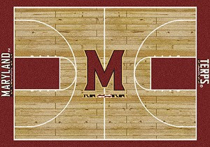Maryland Terrapins Home Court Rug Maryland Terrapins (Lane Color: Red)