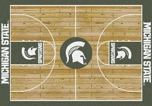 Michigan State Spartans Home Court Rug Michigan State Spartans (Lane Color: Green)