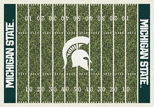Michigan State Spartans Home Field Rug Michigan State Spartans (End Zone Color: Green)