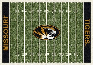 Missouri Tigers Home Field Rug Missouri Tigers (End Zone Color: Black)