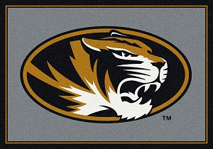 Missouri Tigers Team Spirit Rug Missouri Tigers