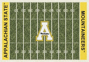 Mountaineers Home Field Rug Appalachian State (End Zone Color: Yellow)