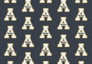 Mountaineers Logo Repeat Rug Appalachian State