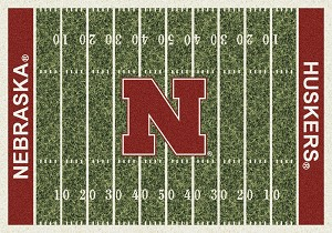 Nebraska Huskers Home Field Rug Nebraska Huskers (End Zone Color: Red)