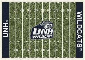 New Hampshire Wildcats Home Field Rug New Hampshire Wildcats (End Zone Color: Blue)