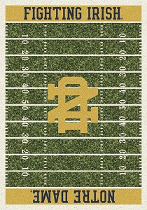 Notre Dame Irish Home Field Rug Notre Dame Fighting Irish (End Zone Color: Gold)