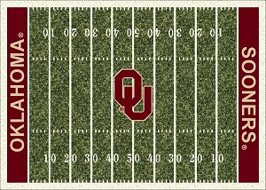 Oklahoma Sooners Home Field Rug Oklahoma Sooners (End Zone Color: Red)