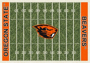Oregon State Beavers Home Field Rug Oregon State Beavers (End Zone Color: Orange)