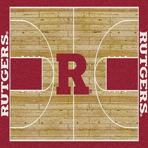 Rutgers Scarlet Knights Home Court Rug Rutgers Scarlet Knights (Lane Color: Red)
