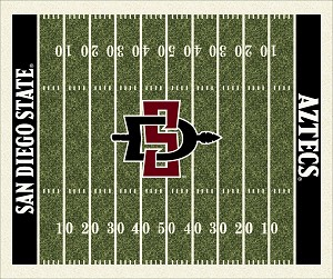 San Diego State Aztecs Home Field Rug San Diego State Aztecs (End Zone Color: Black)