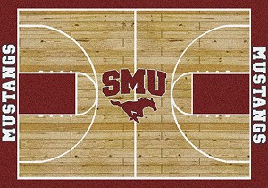 SMU Mustangs Home Court Rug SMU Mustangs (Lane Color: Red)