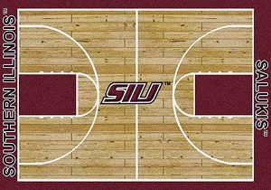 So Illinois Salukis Home Court Rug Southern Illinois Salukis (Lane Color: Red)