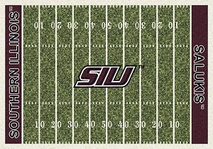So Illinois Salukis Home Field Rug Southern Illinois Salukis (End Zone Color: Red)