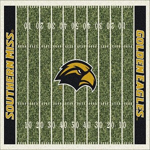 So Miss Golden Eagles Home Field Rug Southern Miss Golden Eagles (End Zone Color: Black)