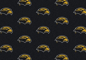 So Miss Golden Eagles Logo Repeat Rug Southern Miss Golden Eagles
