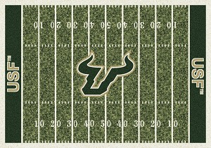 South Florida Bulls Home Field Rug South Florida Bulls (End Zone Color: Green)