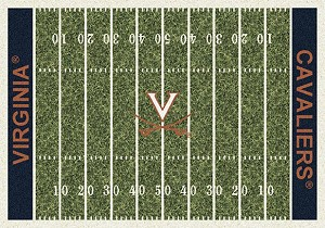 Virginia Cavaliers Home Field Rug Virginia Cavaliers (End Zone: Blue)