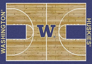 Washington Huskies Home Court Rug Washington Huskies (Lane Color: Purple)