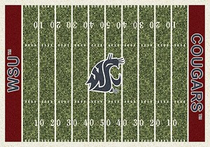 Washington State Cougars Home Field Rug Washington State Cougars (End Zone: Red)