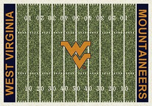 WV Mountaineers Home Field Rug West Virginia Mountaineers (End Zone Color: Blue)