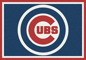 Chicago Cubs Team Spirit Rug Major League Baseball Team
