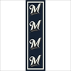Milwaukee Brewers Logo Repeat Rug Major League Baseball