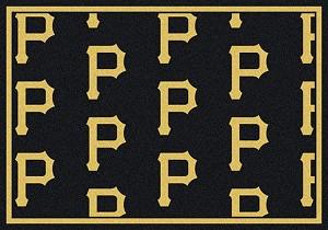 Pittsburgh Pirates Logo Repeat Rug Major League Baseball
