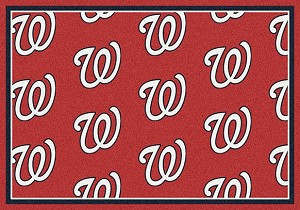 Washington Nationals Logo Repeat Rug Major League